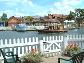 View of Wroxham from Anchor Cottage