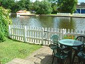 View of Wroxham Moorings From Riverside Cottage