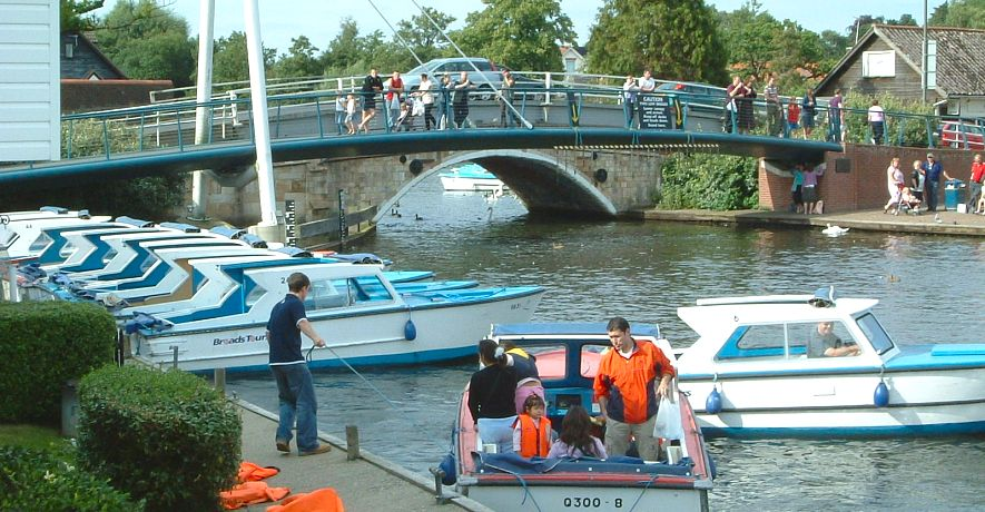 Wroxham dayboat hire within two minutes walk from the cottages - can be moored alongside your cottage